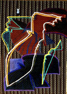 Bird Strata  (abstracts animals, Acrylic) - Fine Art by Donald G. Vogl, Fort Collins, Colorado