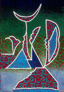 Clarion  (abstracts, Acrylic on Fabric) - Fine Art by Donald G. Vogl, Fort Collins, Colorado