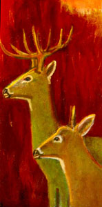 Conflagration  (figures animals, Oil) - Fine Art by Donald G. Vogl, Fort Collins, Colorado