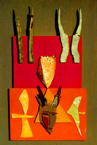 Family Crest  (collages, Mixed Media) - Fine Art by Donald G. Vogl, Fort Collins, Colorado
