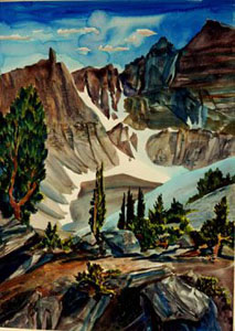 Great Basin National Park Great Basin National Park, Nevada (landscapes, Watercolor) - Fine Art by Donald G. Vogl, Fort Collins, Colorado