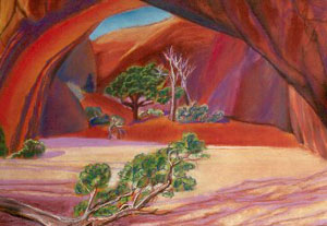 Grotto Arches National Park, Utah (landscapes, Pastel) - Fine Art by Donald G. Vogl, Fort Collins, Colorado