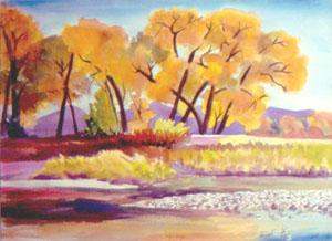 Lee Martinez Park Fort Collins, Colorado (landscapes, Watercolor) - Fine Art by Donald G. Vogl, Fort Collins, Colorado