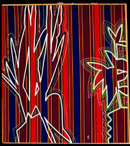 Snakeroot  (abstracts, Acrylic on Fabric) - Fine Art by Donald G. Vogl, Fort Collins, Colorado