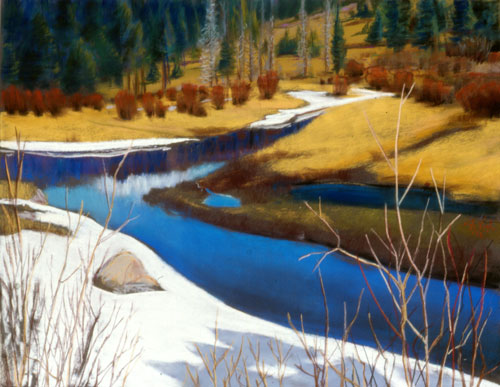 A River Runs Through It Rocky Mountain National Park, Colorado (landscapes, Pastel) - Fine Art by Donald G. Vogl, Fort Collins, Colorado