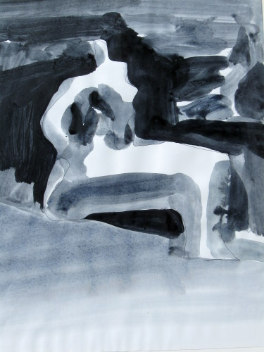 Benchmark  (abstracts figures monochromes, Acrylic) - Fine Art by Donald G. Vogl, Fort Collins, Colorado