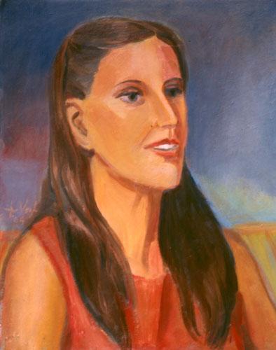 Brunette  (portraits, Oil) - Fine Art by Donald G. Vogl, Fort Collins, Colorado