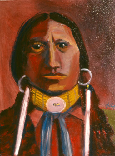 Chief Apache  (portraits, Oil) - Fine Art by Donald G. Vogl, Fort Collins, Colorado