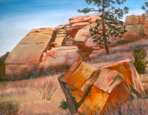 Climbers Choice Horsetooth Reservoir, Colorado (landscapes, Oil) - Fine Art by Donald G. Vogl, Fort Collins, Colorado