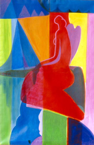 Copenhagen  (abstracts figures nudes, Acrylic) - Fine Art by Donald G. Vogl, Fort Collins, Colorado