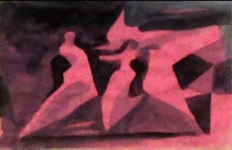The Dance  (abstracts, Acrylic) - Fine Art by Donald G. Vogl, Fort Collins, Colorado