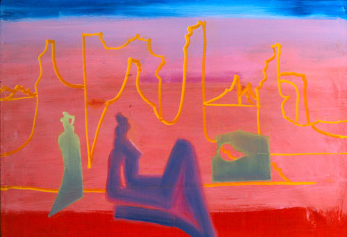 Desert Dream  (figures, Acrylic) - Fine Art by Donald G. Vogl, Fort Collins, Colorado