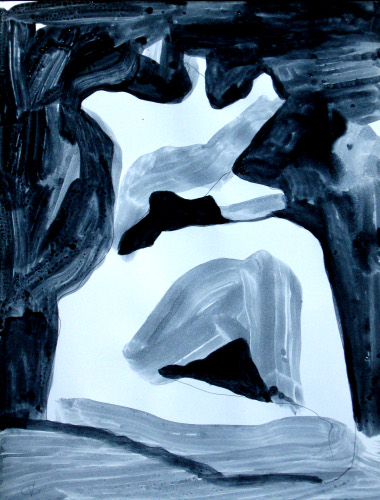 Diet Rite  (abstracts figures monochromes, Acrylic) - Fine Art by Donald G. Vogl, Fort Collins, Colorado