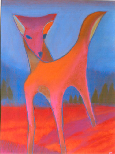 Fawn  (figures animals, Pastel) - Fine Art by Donald G. Vogl, Fort Collins, Colorado