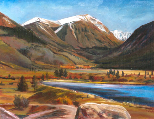 First Snow Red Cliff, Colorado (landscapes, Oil) - Fine Art by Donald G. Vogl, Fort Collins, Colorado