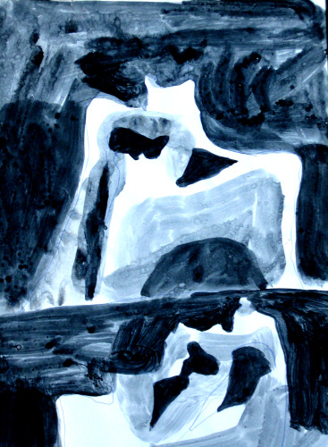 Formations  (abstracts figures monochromes, Acrylic) - Fine Art by Donald G. Vogl, Fort Collins, Colorado