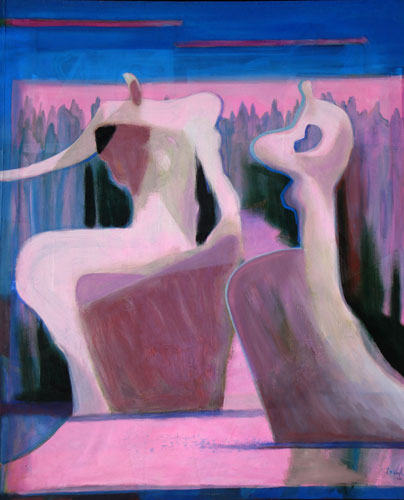 Gorge  (abstracts figures, Acrylic) - Fine Art by Donald G. Vogl, Fort Collins, Colorado