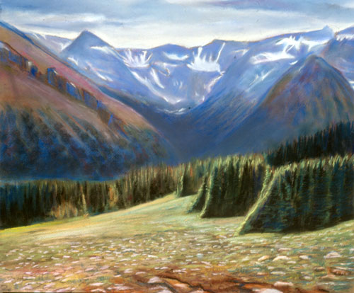 Guardians Rocky Mountain National Park, Colorado (landscapes, Pastel) - Fine Art by Donald G. Vogl, Fort Collins, Colorado
