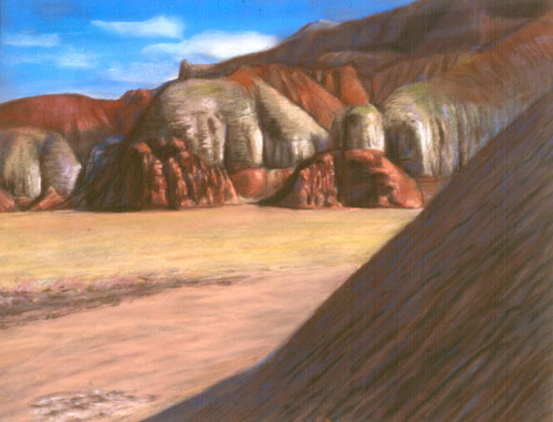 Late Afternoon Goblin Valley State Park, Utah (landscapes, Pastel) - Fine Art by Donald G. Vogl, Fort Collins, Colorado