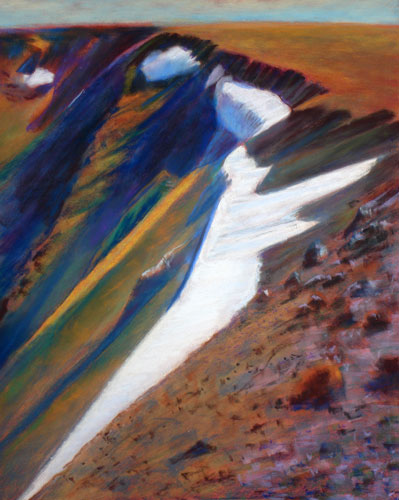 Little Bo Peep and Her Sheep Rocky Mountain National Park, Colorado (landscapes, Pastel) - Fine Art by Donald G. Vogl, Fort Collins, Colorado