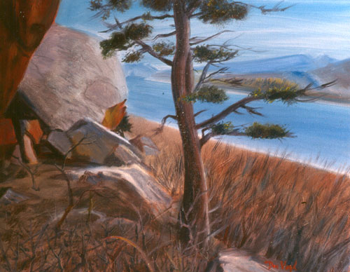 Lonesome Pine - Horsetooth Horsetooth Reservoir, Colorado (landscapes, Oil) - Fine Art by Donald G. Vogl, Fort Collins, Colorado