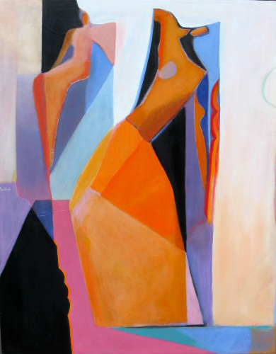 Looking Down  (figures, Oil) - Fine Art by Donald G. Vogl, Fort Collins, Colorado