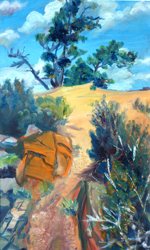 Looking Up Horsetooth Reservoir, Colorado (landscapes, Oil) - Fine Art by Donald G. Vogl, Fort Collins, Colorado