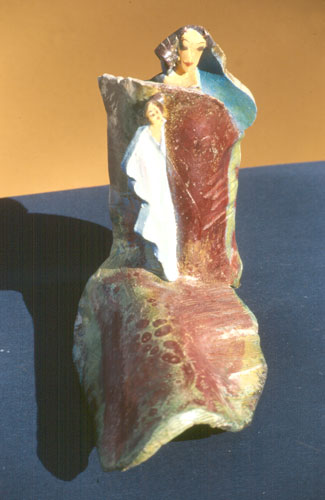 Madonna  (ceramics christian, Raku) - Fine Art by Donald G. Vogl, Fort Collins, Colorado