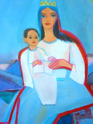 Madonna  (figures christian, Acrylic) - Fine Art by Donald G. Vogl, Fort Collins, Colorado