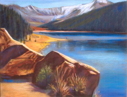North of Leadville Leadville, Colorado (landscapes, Pastel) - Fine Art by Donald G. Vogl, Fort Collins, Colorado