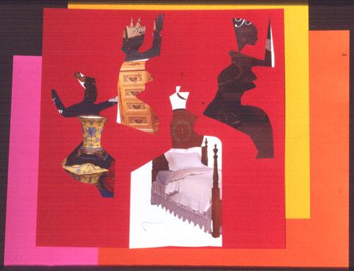 Orientale  (collages, Collage) - Fine Art by Donald G. Vogl, Fort Collins, Colorado