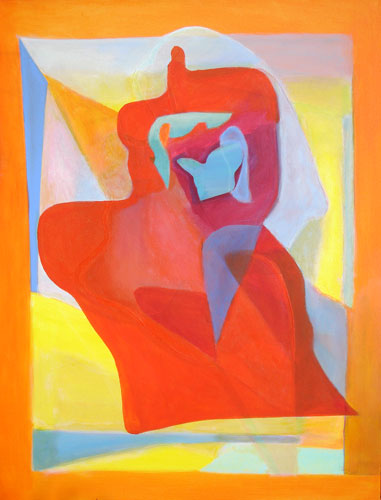 Outer Shell  (abstracts figures, Acrylic) - Fine Art by Donald G. Vogl, Fort Collins, Colorado