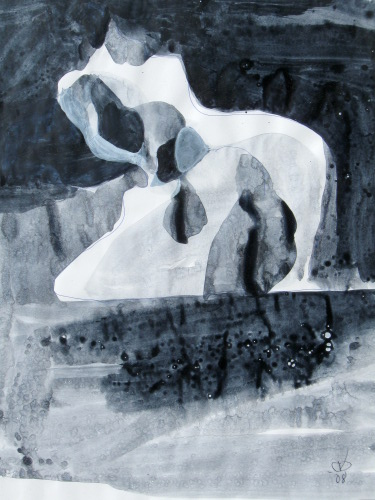 Pegasus  (abstracts figures monochromes, Acrylic) - Fine Art by Donald G. Vogl, Fort Collins, Colorado