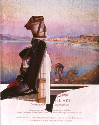 Phantom  (collages figures, Collage) - Fine Art by Donald G. Vogl, Fort Collins, Colorado