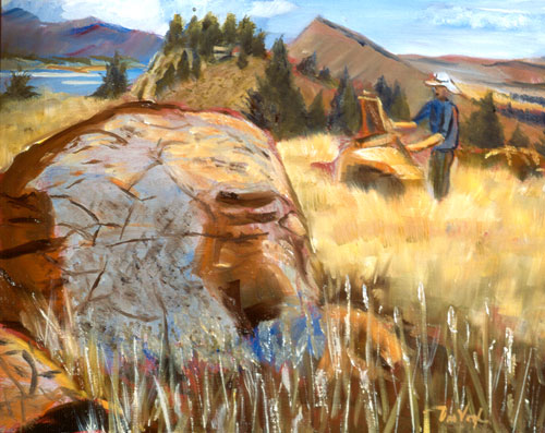 Plein Air Painter Horsetooth Reservoir, Colorado (landscapes, Oil) - Fine Art by Donald G. Vogl, Fort Collins, Colorado