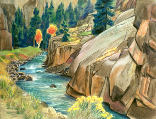 Poudre River Colorado (landscapes, Oil) - Fine Art by Donald G. Vogl, Fort Collins, Colorado