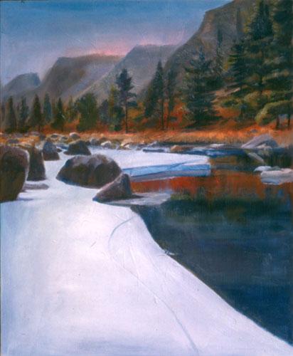 Poudre River Colorado (landscapes, Pastel) - Fine Art by Donald G. Vogl, Fort Collins, Colorado