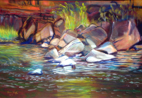 Poudre Rocks Colorado (landscapes, Oil) - Fine Art by Donald G. Vogl, Fort Collins, Colorado