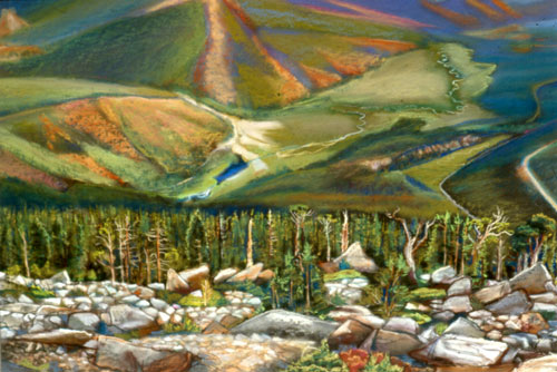 Rainbow Curve Rocky Mountain National Park, Colorado (landscapes, Pastel) - Fine Art by Donald G. Vogl, Fort Collins, Colorado