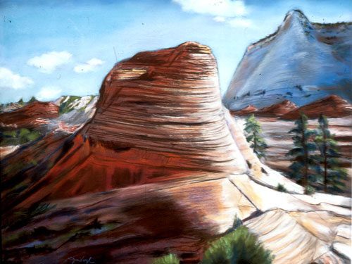 Sitting Pretty San Rafael Swell, Utah (landscapes, Pastel) - Fine Art by Donald G. Vogl, Fort Collins, Colorado