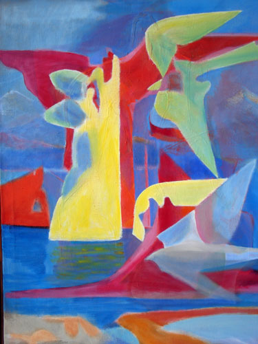 Sky, Air and Water  (abstracts figures, Acrylic) - Fine Art by Donald G. Vogl, Fort Collins, Colorado