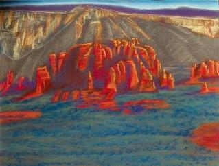 Spire Dome Sedona, Arizona (landscapes, Pastel) - Fine Art by Donald G. Vogl, Fort Collins, Colorado