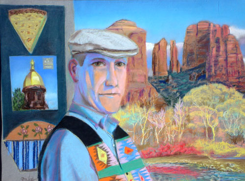 Summer Portrait  (portraits landscapes, Pastel) - Fine Art by Donald G. Vogl, Fort Collins, Colorado