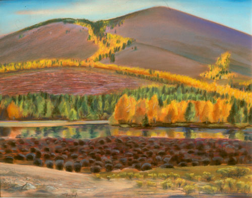 Sun Valley Vista Sun Valley, Idaho (landscapes, Pastel) - Fine Art by Donald G. Vogl, Fort Collins, Colorado