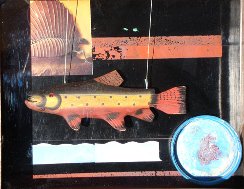 Swimmer  (collages animals, Assemblage) - Fine Art by Donald G. Vogl, Fort Collins, Colorado