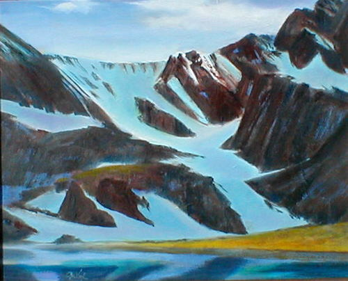 Taylor Glacier Rocky Mountain National Park, Colorado (landscapes, Oil) - Fine Art by Donald G. Vogl, Fort Collins, Colorado