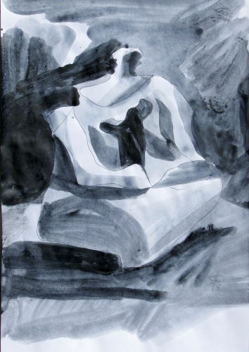 Thaw  (abstracts figures monochromes, Acrylic) - Fine Art by Donald G. Vogl, Fort Collins, Colorado