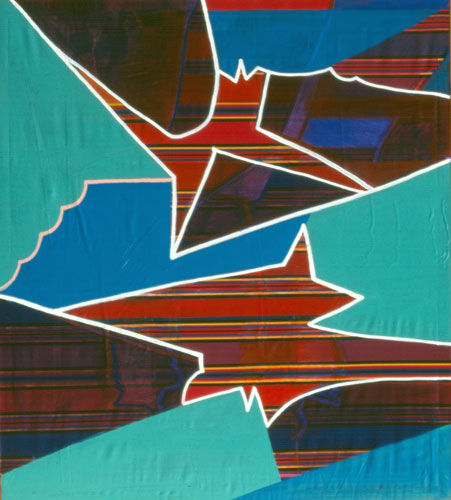 Two Stars  (abstracts, Acrylic) - Fine Art by Donald G. Vogl, Fort Collins, Colorado