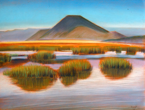 Wetlands Oregon (landscapes, Pastel) - Fine Art by Donald G. Vogl, Fort Collins, Colorado