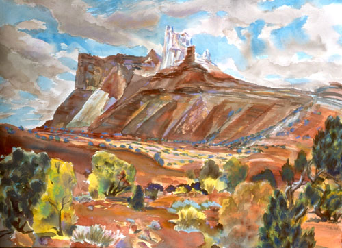 White Castle San Rafael Swell, Utah (landscapes, Watercolor) - Fine Art by Donald G. Vogl, Fort Collins, Colorado